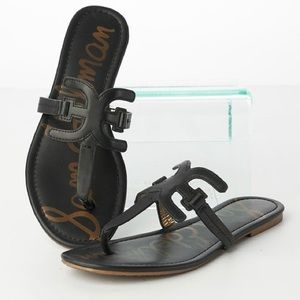 Sam Edelman Black Carter Flat Sandals